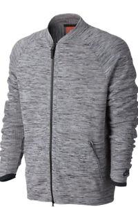 Nike Sportswear Tech Knit Jacket Carbon Heather Mens Size Large 832178 060 L New