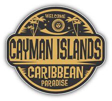 Cayman Islands Welcome Label Car Bumper Sticker Decal 5'' x 4''