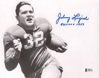 JOHNNY LUJACK SIGNED AUTOGRAPHED 8x10 PHOTO + HEISMAN 47 NOTRE DAME BECKETT BAS