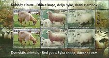 Kosovo Stamps 2017. Domestic animals, Goat, Sheep, Ram. Sheet MNH
