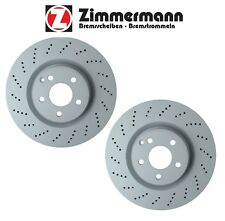 Mercedes W212 E550 E350 Set of 2 Front Drilled 344x32 Brake Rotors Zimmermann