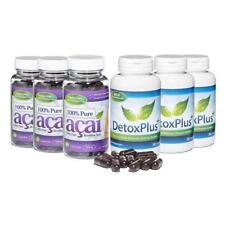 100% Pure Acai Berry Colon Cleanse dieta Combo 3 mes de suministro Evolution Slimming