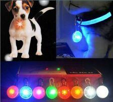Mascota Perro Gato Collar Clip de Seguridad durante la noche LED luz parpadeante luminosa Tag IMPERMEABLE