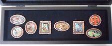 Tokyo Disney Sea Framed Art Pin Set of 8 in Box [Mickey Minnie Lady Tramp..]
