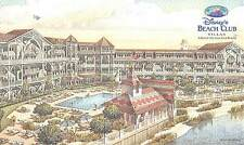 Disney's Beach Club Villa Resort Vintage postcard old logo Welcome Home