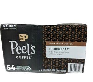 Peets Coffee French Roast Dark Roast Single Serve K-Cup Coffee Pods 54 Count NIB