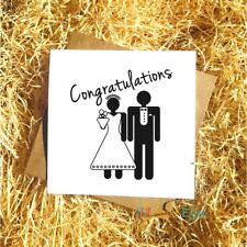 Congratulations Bride & Groom - Wedding Greetings Card Wedding Party Friend