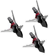 """G5 Broadhead Deadmeat Crossbow 3 Blade Expandable 3pk 100 Grain 1.5"""" Cut #00604"""