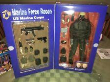 "ELITE FORCE US MARINE FORCE RECON ""SNIPER"" 12"" FIGURE BLUE BOX"