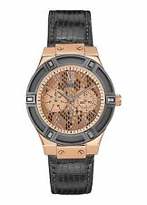GUESS LADIES JETSETTER, MULTI FUNCTION, LEATHER WATCH, NEW/ TAGS/CASE, W0289L4