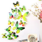 12pcs 3D Butterfly Wall Stickers Art Design Decal Home DIY Decor Room Decoration