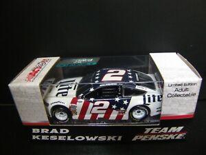 RARE Brad Keselowski 2017 Miller Lite Patriotic #2 Penske Fusion 1/64 NASCAR