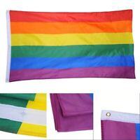 90*150cm/3*5ft Rainbow flag Gay Pride Peace LGBT Polyester Transgender Banner