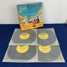 Vintage Living Russian A Complete Language Course Lp Vinyl Records 1958