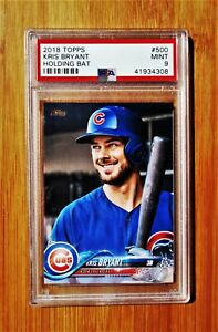 2018 Topps #500 KRIS BRYANT Chicago Cubs PSA 9 MINT