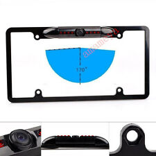 170° Viewing Angle Universal Car License Plate Frame Mount Rear View Camera Led