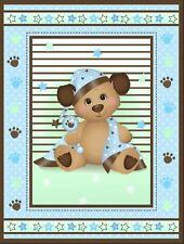 1 Nitey Night Bears Baby Panel Fabric