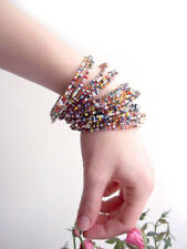 AFRICAN MASAI BEADED SUMMER BEACH BRACELETS, TRIBAL ETHNIC HOLIDAY ACCESSORIES