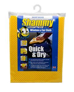 Neat Ideas Quick & Dry Shammy - Window & Car Cloth Synthetic Long Lasting UK