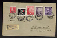 1943 BohmischTrubau BM Germany Registered Cover to Listi