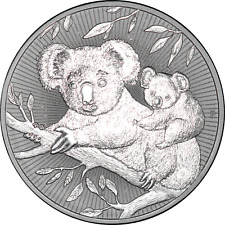 Australia 2 oz 2018-P Koala Next Generation Mother & Baby .9999 Silver Piedfort