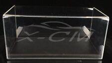 Car Model Transparent Display Show Case Leather Like Base 1:18 (Black)