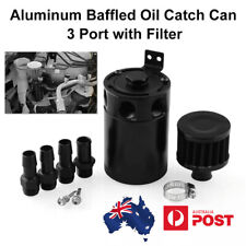 Aluminum Oil Catch Can Polish Baffled Reservoir Tank With Air Filter Drain Valve