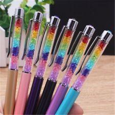 Rainbow Crystal Rhinestone Pen Ballpoint Pens Office School Supplies