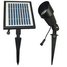 Solar Goes Green Sgg-S12 Solar Led Spot Light, Cast Aluminum, Black