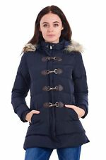 Ladies Winter Coat Jacket Faux Fur Hood  Padded Womens Warm Puffer REDUCED!!