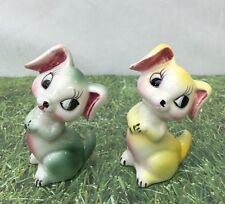 Dogs Puppy Hand Painted Anthropomorphic Salt and Pepper Shakers Vintage