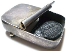 """MEMO WP MODERN MODERNIST STERLING SILVER FOSSIL 3D CONTAINER BROOCH PIN 1.75"""""""
