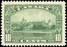 Mint H Canada 1935 VF Scott #215 10c Windsor Castle Silver Jubilee Stamp