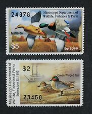 CKStamps: US State Duck Stamps Collection Mississippi (2) Mint NH