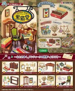 Re-ment Miniature Furniture Antique Shop Black cat rement 650yen Full set of 8