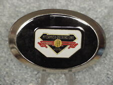 IH INTERNATIONAL HARVESTER MCCORMICK DEERING LOGO BLACK BELT BUCKLE