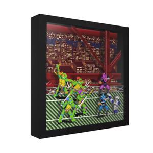 """Teenage Mutant Ninja Turtles: Turtles in Time - 3D Shadow Box Frame (9"""" x 9"""")"""