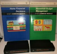 Texas Instruments TI 99/4A  2 Home Financial Decisions Module Game & Manuals