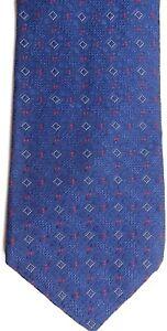 "Ventura Men's Silk Tie 57 X 4"" Navy w/ red/silver Geometric"