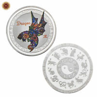 WR Chinese New Year Of The Dragon SILVER Coin Medal 12 Animal Zodiac Collection