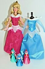 Disney Store Sleeping Beauty Aurora, Rose Briar Wardrobe & Fairy Godmothers