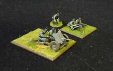 WW2 WWII 28mm German Infantry Support Pak 35/36 tank gun and MMG team Painted
