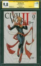 Civil War II 0 CGC SS 9.8 Captain Marvel Sketch Variant 2019 Avengers 4 Movie