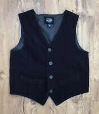 The Childrens Place Boys Sz 14 Black Corduroy Vest Fully Lined Great Look Sz 14