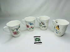 4 pcs of Lenox 'Butterfly Meadow Dragonfly' Cup/Mug  New In Box