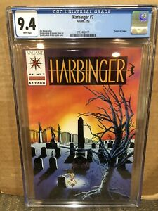 Harbinger 7 CGC 9.4 1992 Direct Market Edition DM Valiant Comics Torque Funeral