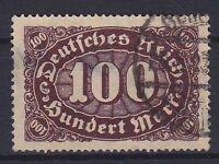 DR Mi Nr. 219 F 14, gest., PF Plattenfehler, Infla Deutsches Reich 1922, used