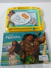 Disney MOANA 22 Page Storybook + Magnetic Drawing Kit Ages 3+