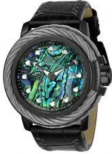 Nuevo Hombre Invicta 24431 Perno Automático 52mm Reloj con Correa de Cuero Negro