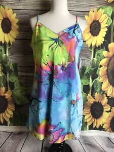NATORI Private Luxuries Dress Slip Sz L Gala Floral Nightgown Gown NWT